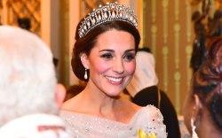Kate Middleton, tiara, cinderella, gown, buckingham