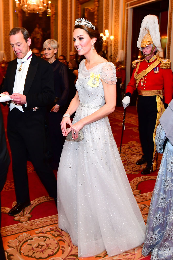 Kate Middleton, tiara, buckingham palace, jenny packham, gown, cinderella
