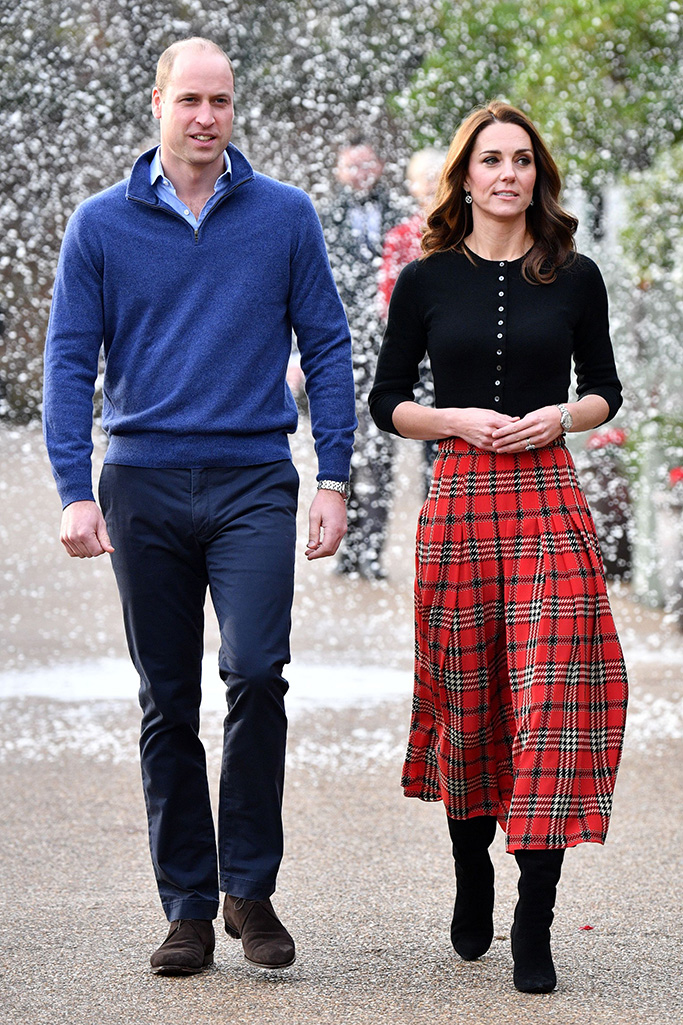 Emilia Wickstead tartan skirt, Prince William and Catherine Duchess of CambridgePrince William and Catherine Duchess of Cambridge host lunch for military personnel, London, UK - 04 Dec 2018Their Royal Highnesses will host a Christmas party in London for families and children of deployed personnel from RAF Coningsby and RAF Marham serving in Cyprus. The Duke is Honorary Air Commandant of RAF Coningsby, Lincolnshire, which is home to Typhoon Sqns, who currently deploy to Cyprus in support of Op SHADER. RAF Marham have 31 Squadron, who are also contributing to OP SHADER. The event is being supported by The Royal British Legion in recognition of the unique contribution and sacrifices Serving personnel and their families make year round, and especially when they are separated during the festive period. The support of their families and loved ones is vital not only when personnel are serving, but through transition, recovery and civilian life after service, and The Royal British Legion ensures that those family members are supported in return.
