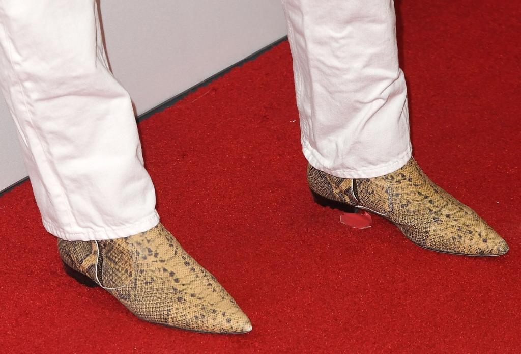 katie holmes snakeskin boots