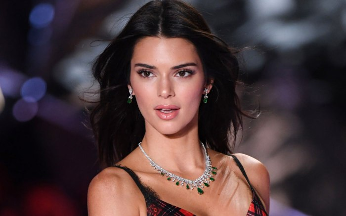 Kendall Jenner at the 2018 Victoria's Secret Fashion Show.