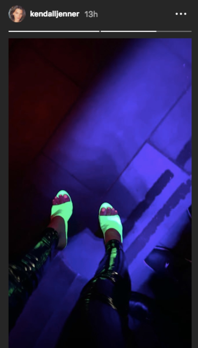 kendall jenner glow in the dark shoes