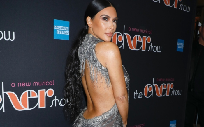 Kim Kardashian wearing vintage Versace haute couture from 1998