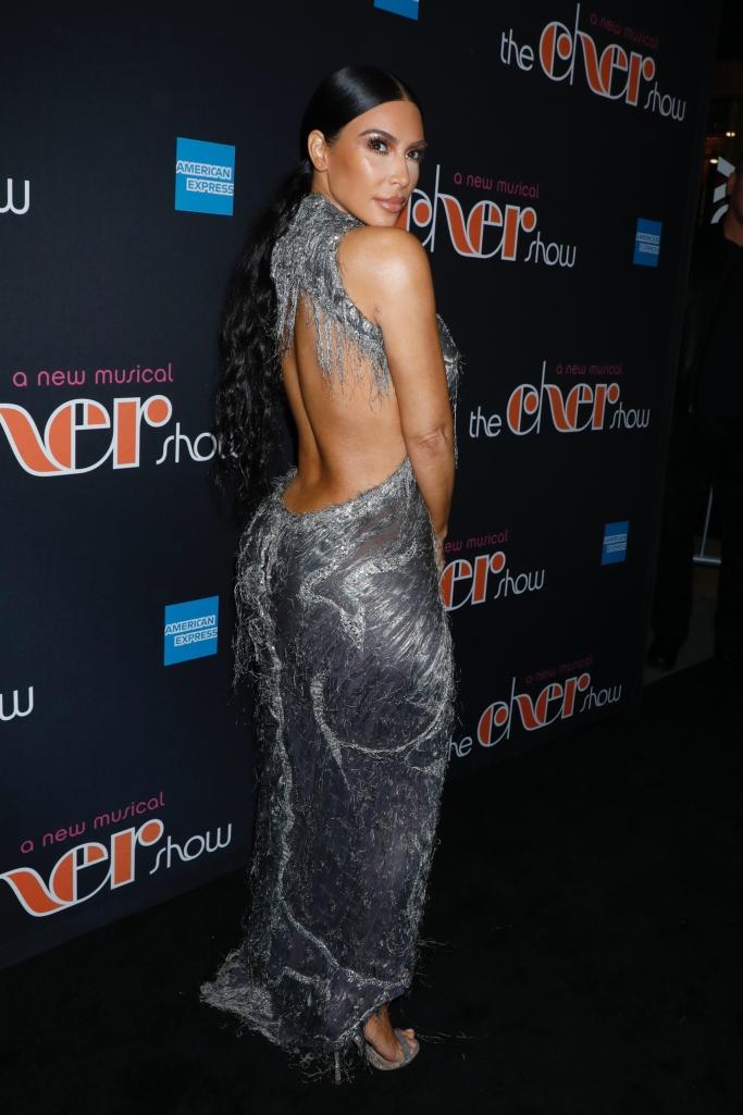 kim kardashian, vintage versace haute couture 1998, the cher show broadway