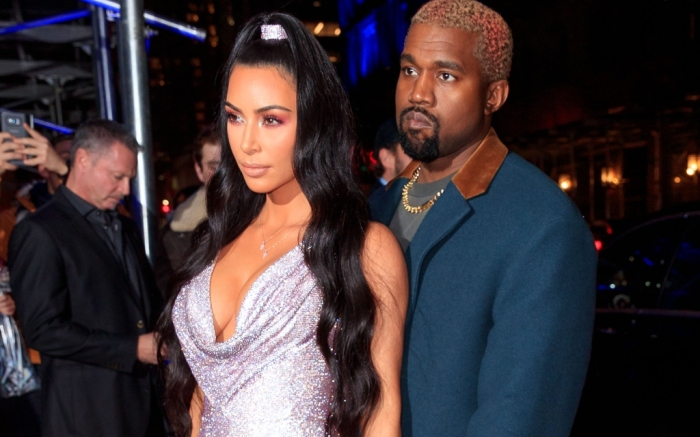 Kim Kardashian West and Kanye West versace
