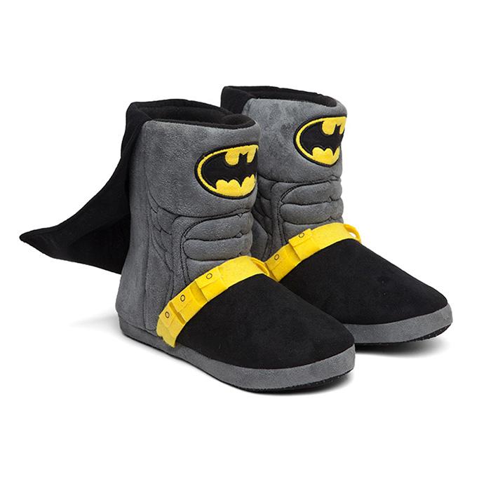 Adult Batman Caped Uniform Slippers