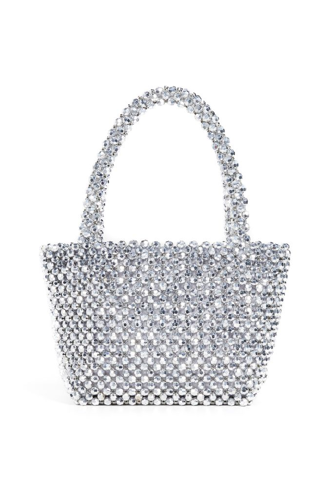 loeffler randall beaded tote holiday 2018 dressing beaded bag sparkly