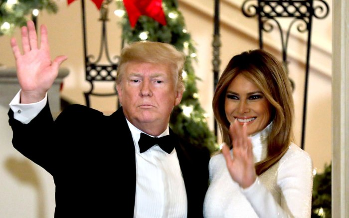 donald, melania trump, congressional ball, white house