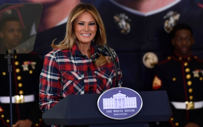 melania trump toys for tots event