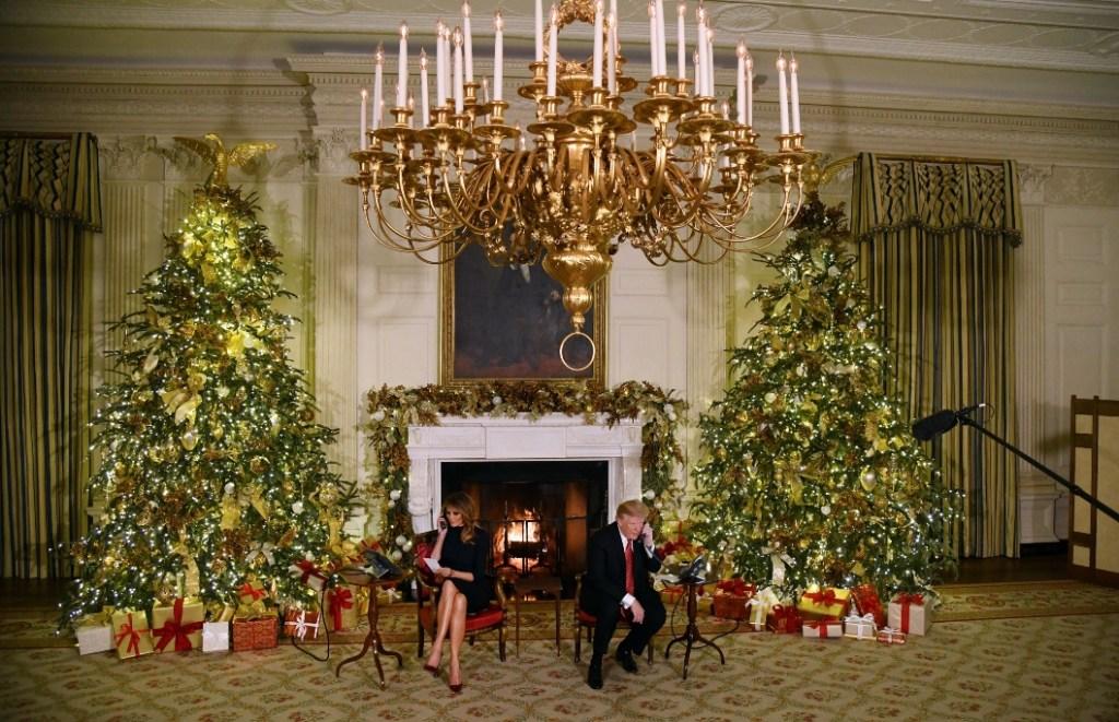 melania trump, donald trump, christmas call