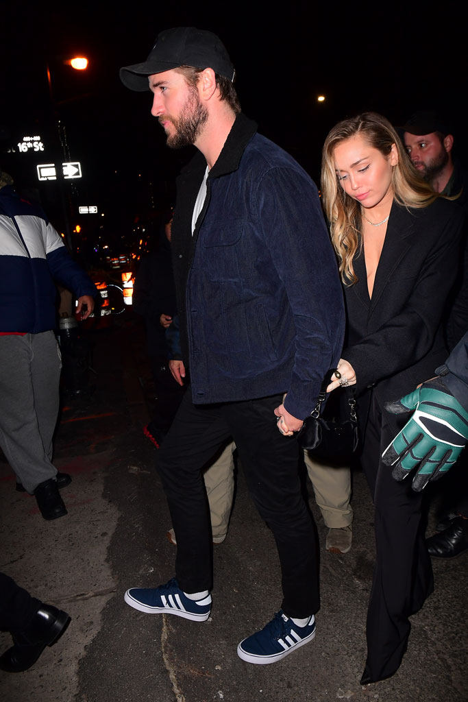 Liam Hemsworth , Miley Cyrus, new york city, snl, saturday night life, afterparty
