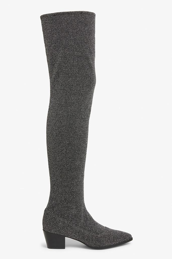 Monki Glitter Over the Knee Boots
