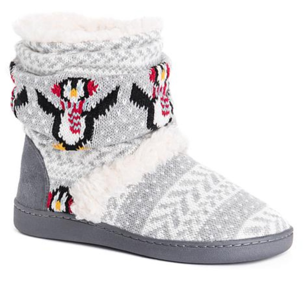 Muk Luks Holly Knit Slipper Boot