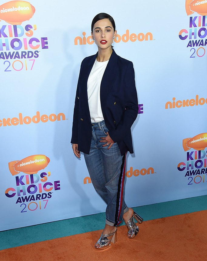 Naomi Scott, Nickelodeon Kids' Choice Awards, Arrivals, Los Angeles, USA - 11 Mar 2017