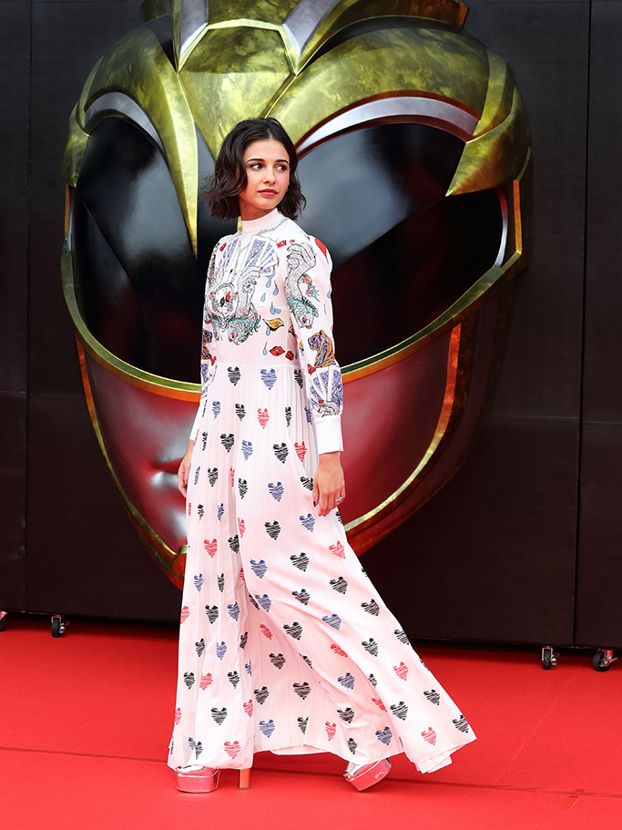 Naomi Scott, 'Power Rangers' film premiere, Tokyo, Japan - 03 Jul 2017WEARING MARY KATRANTZOU