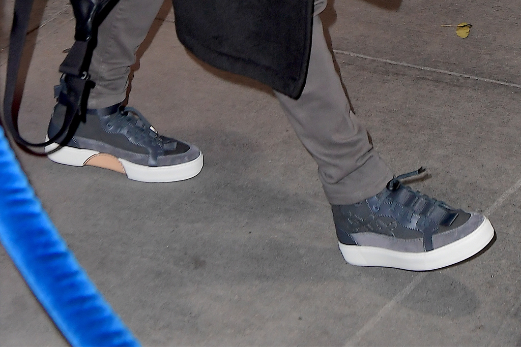 nick jonas, blue sneakers