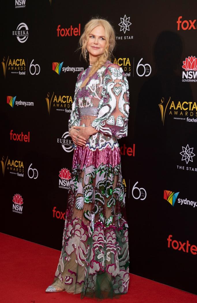 Nicole Kidman, valentino spring 2019, louboutin nosy flats