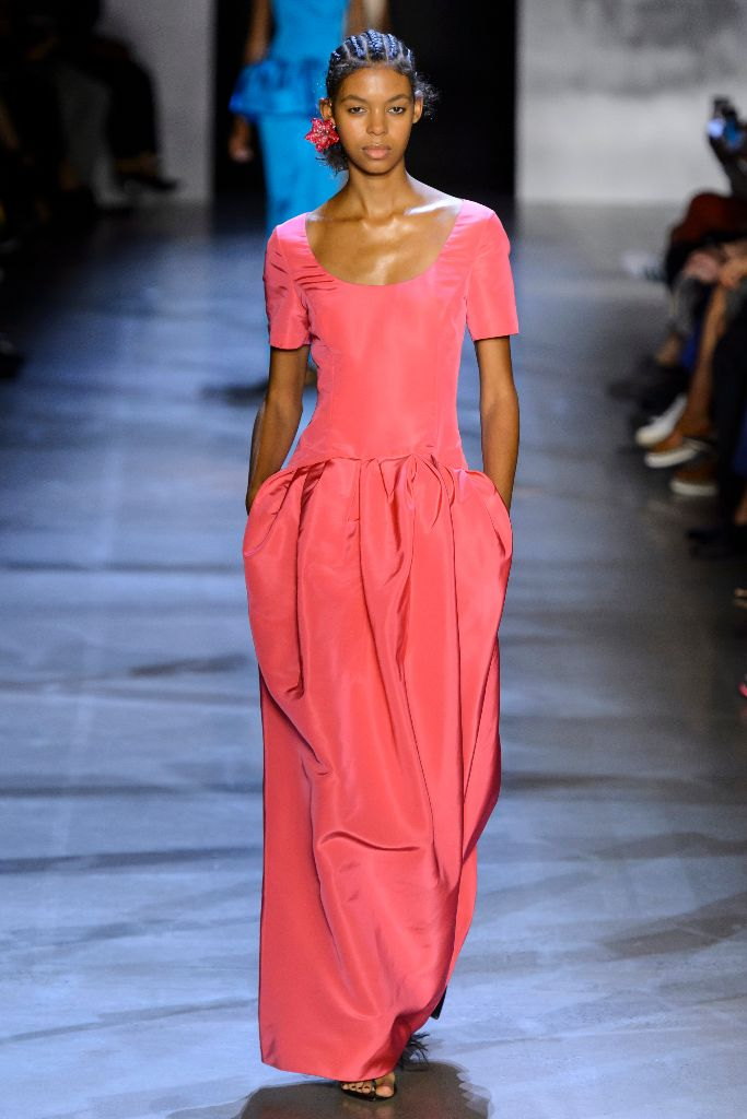 pantone 2019 color of the year living coral prabal gurung spring '19