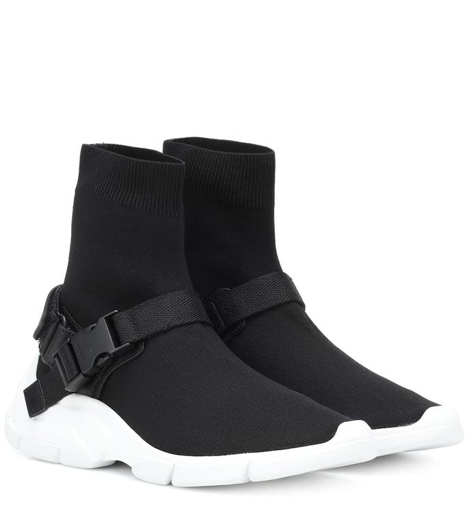 PradaKnit High-top Sneakers