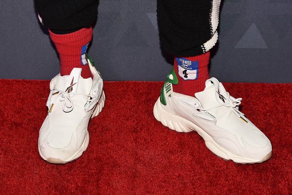 Kerby Jean-Raymond, shoe detail32nd Annual Footwear News Achievement Awards, Arrivals, New York, USA - 04 Dec 2018