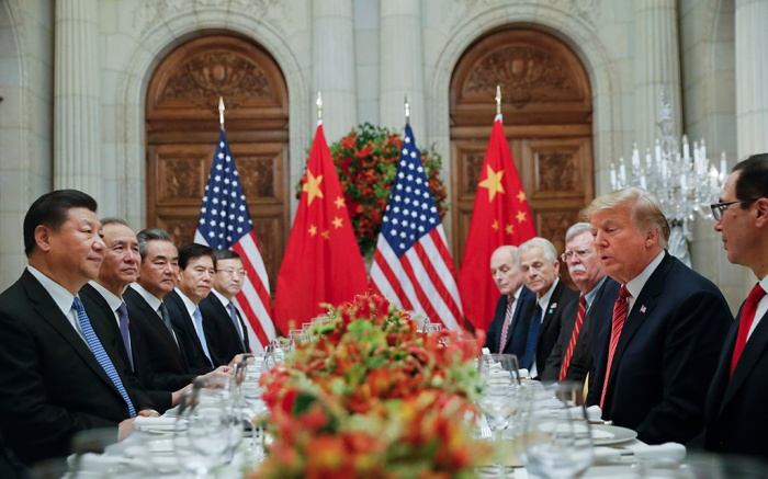 Donald Trump, Xi Jinping. President Donald Trump with China's President Xi Jinping during their bilateral meeting at the G20 Summit, in Buenos Aires, ArgentinaTrump G20 Summit, Buenos Aires, Argentina - 01 Dec 2018