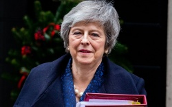 Prime Minister, Theresa May, leaves 10
