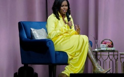 Former first lady Michelle Obama speaks