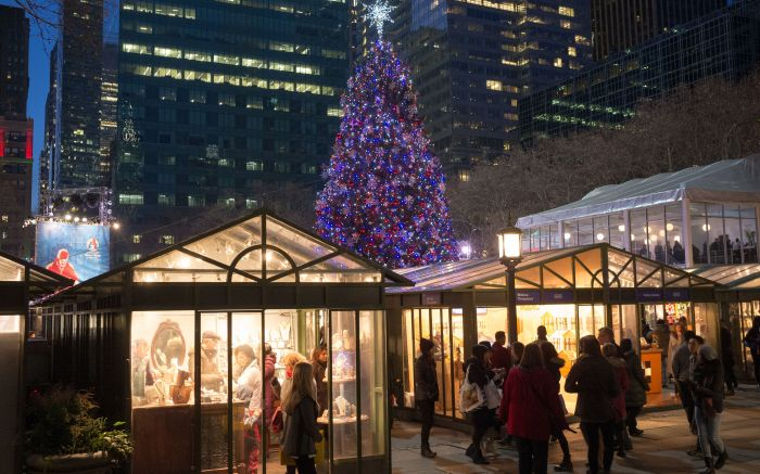 The Holiday Shops at Bryant Park in New York