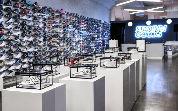 Sneakers on sale at a Stadium Goods event