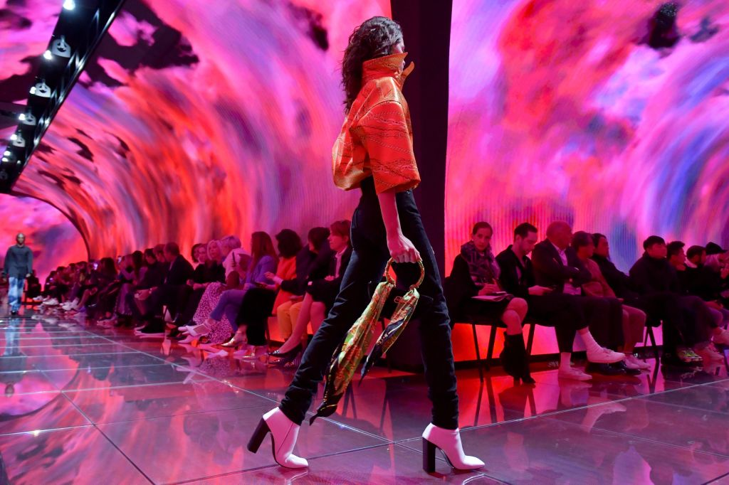 Model on the catwalkBalenciaga show, Runway, Spring Summer 2019, Paris Fashion Week, France - 30 Sep 2018
