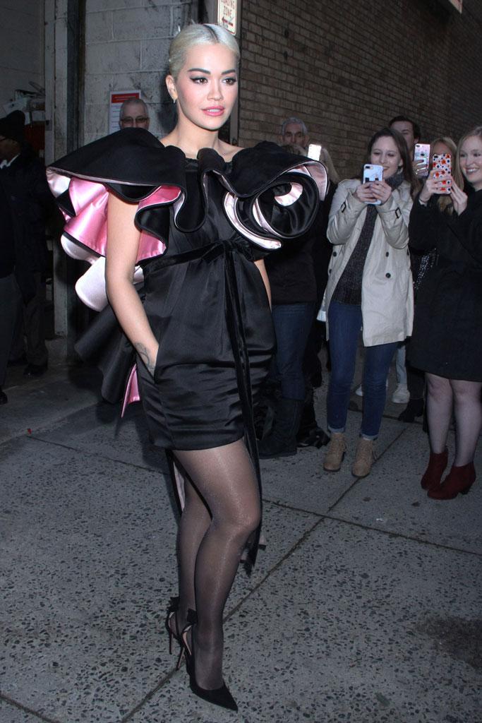 Rita Ora, Marc Jacobs, Aquazzura, high heels, new york city, live with kelly and ryan