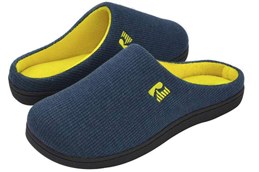 Rock Dove men's memory foam slipper