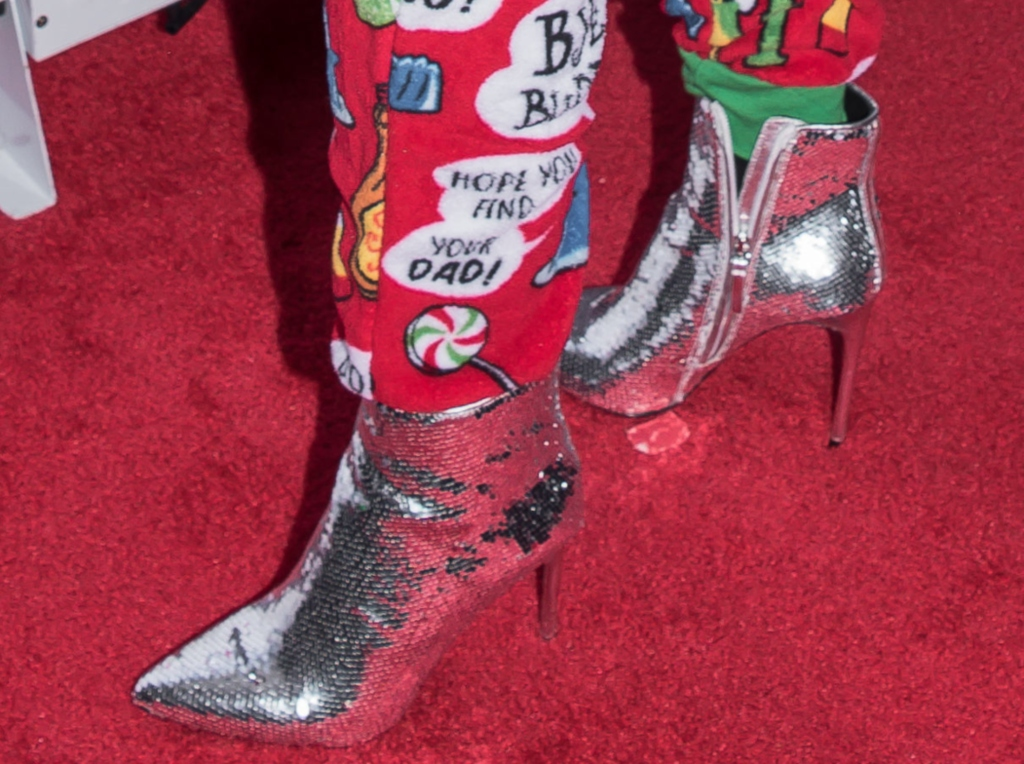Camila Cabello red carpet, sequined boots