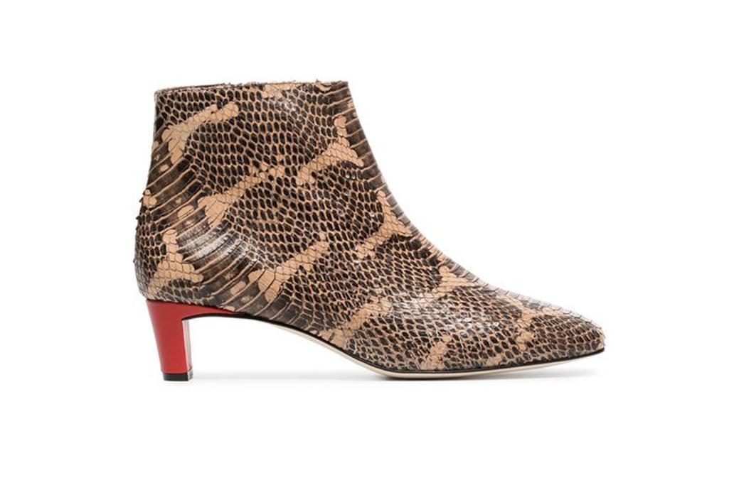 snakeskin boots, atp atelier