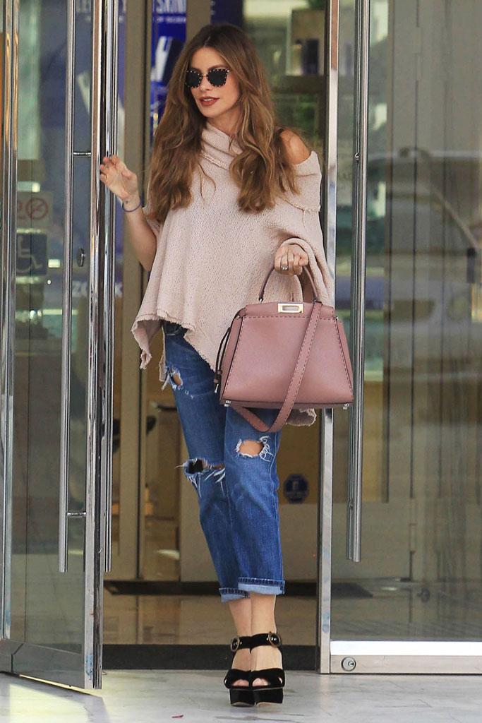 Sofia Vergara, errands, ripped jeans, high heels