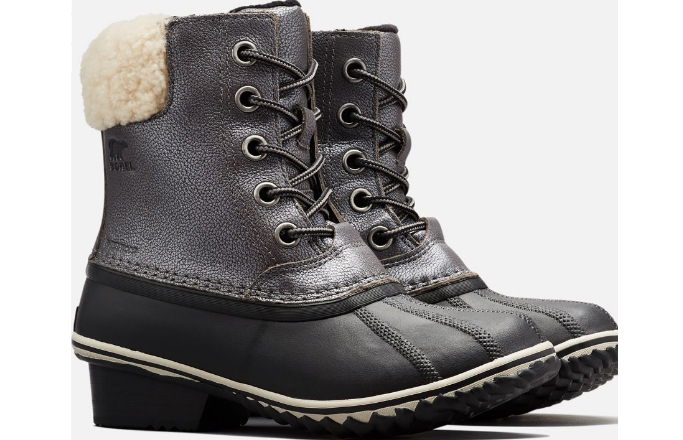 Sorel Slimpack II Lace Shearling Boot