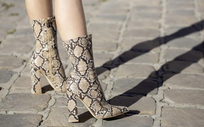 street style, snakeskin boots