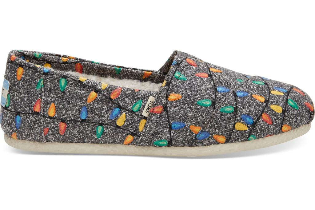 Toms Glow in the Dark Tree Lights Slippers