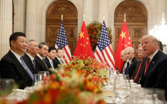 President Donald Trump, right, China's President Xi Jinping