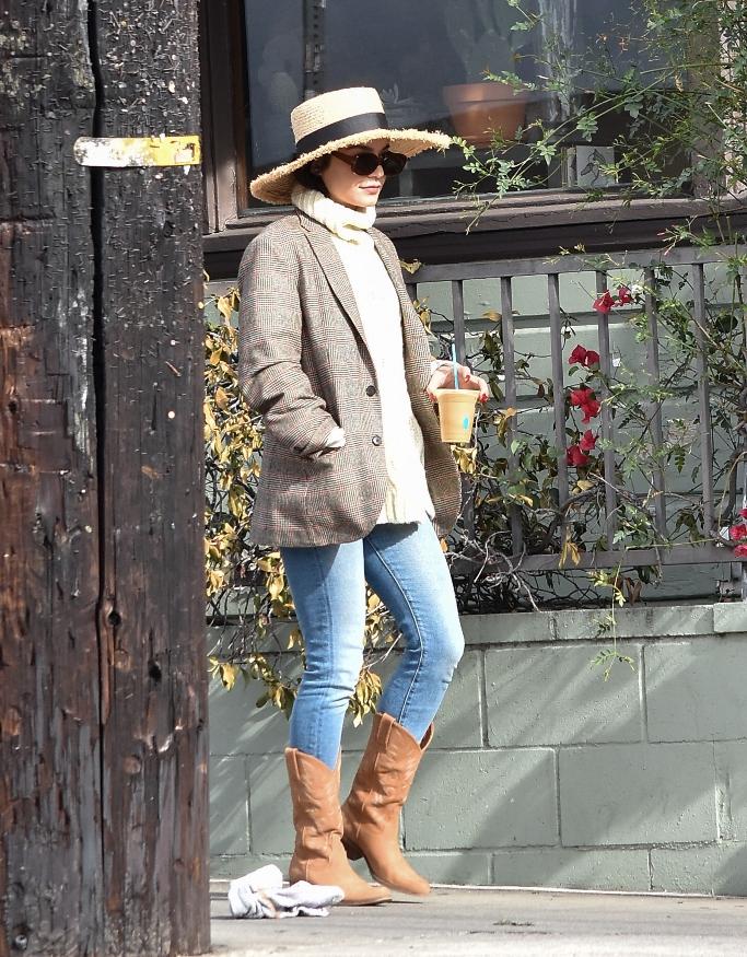 vanessa hudgens, cowboy boots