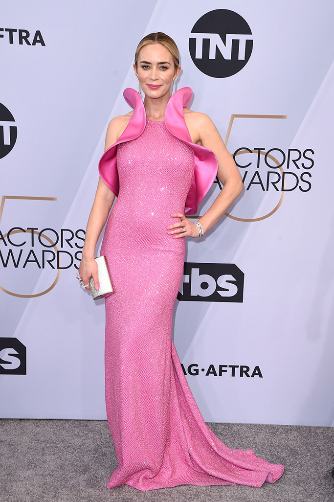 Emily Blunt, michael kors collection dress, 25th Annual Screen Actors Guild Awards, Arrivals, Los Angeles, USA - 27 Jan 2019