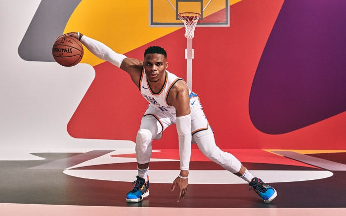 Russell Westbrook in his Jordan Why Not Zer0.2