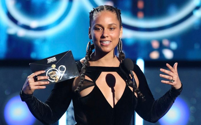 Alicia Keys, 2018 grammy awards, red carpet, celebrity style