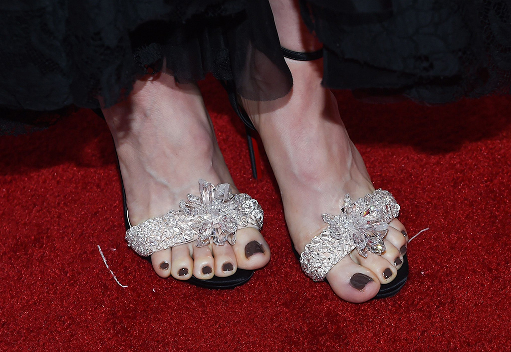 Alison Brie, shoe detail30th Annual Producers Guild Awards, Arrivals, The Beverly Hilton, Los Angeles, USA - 19 Jan 2019