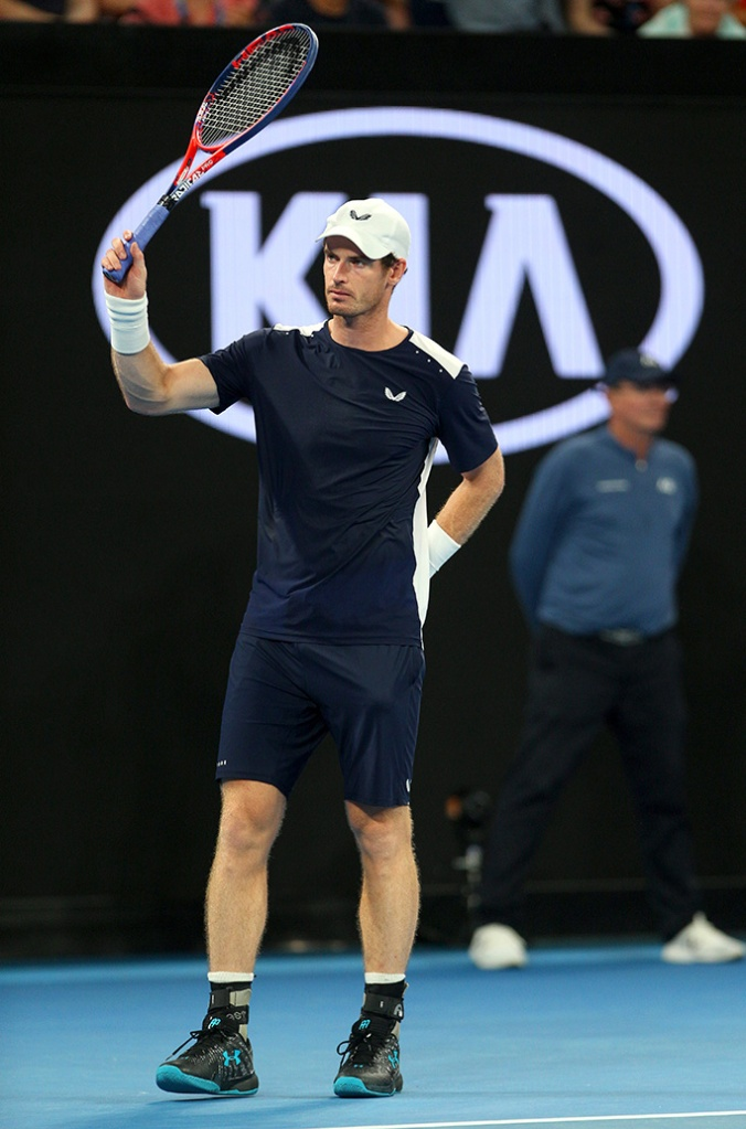 Andy Murray of Great Britain becomes emotional at the standing ovationAustralian Open 2019, Day One, Tennis, Melbourne Park, Melbourne, Australia - 14 Jan 2019