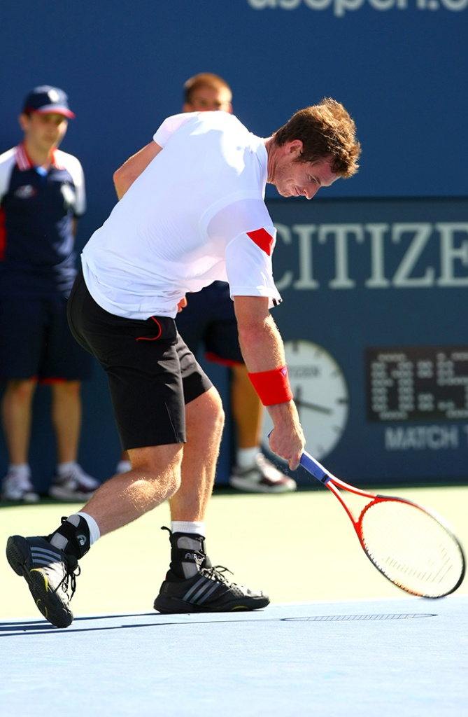 Andy Murray of Great Britain smashes his racquetUS Open Tennis Championships, Flushing Meadows, New York, America - 05 Sep 2013