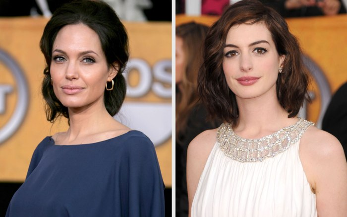 Angelina Jolie and Anne Hathaway