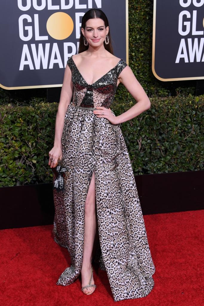 Anne Hathaway wearing Olgana Paris sandals