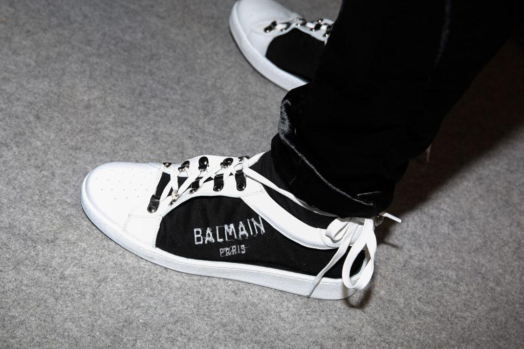 balmain, sneakers, men's pfw