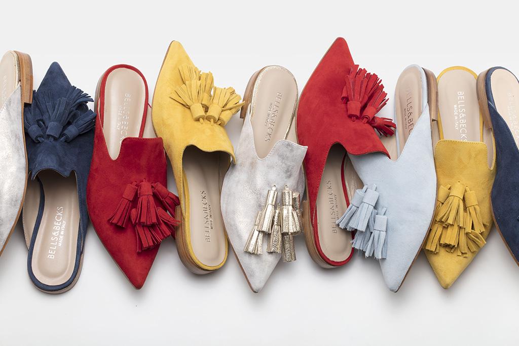 A lineup of Bells & Becks flat shoes